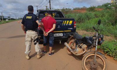 Foragido por tráfico é preso pela PRF na BR-364 após fornecer o nome de seu irmão