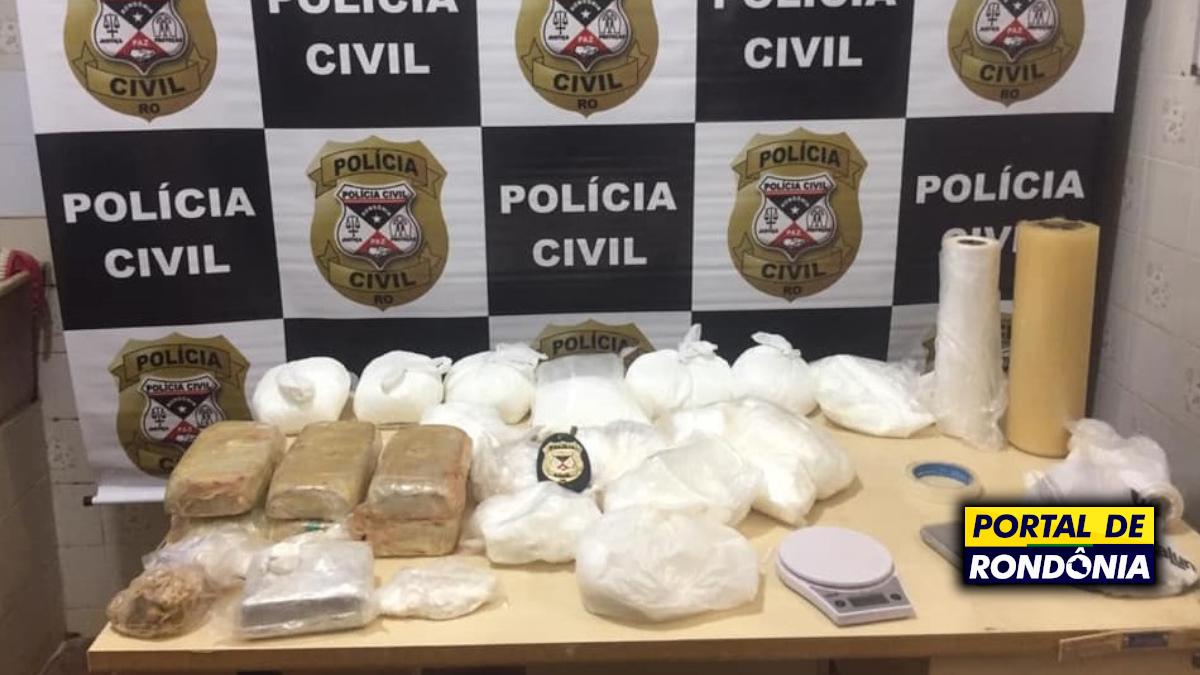 Polícia Civil apreende 10kg de droga em conveniência em Porto Velho