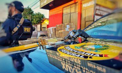 PRF prende motorista com com arma, ouro e mais de cem mil reais