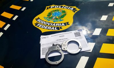 Foragido é preso pela PRF na BR-364 no dia do aniversário