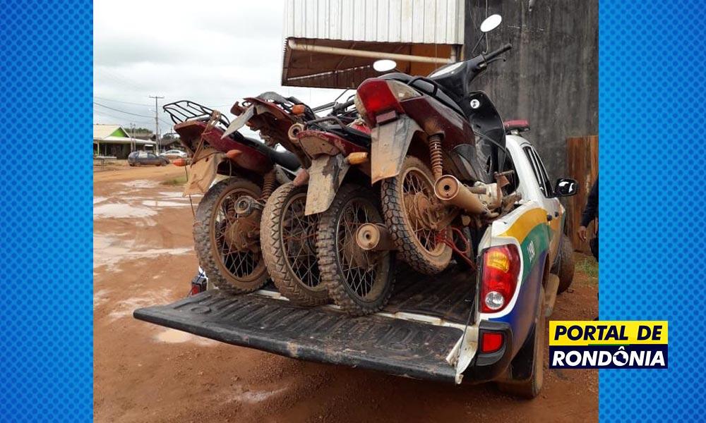 Polícia Militar recupera 15 motos roubadas e prende várias pessoas por receptação