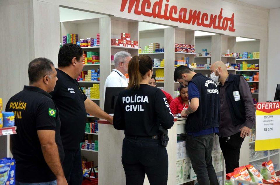 Polícia Civil faz operação para combater preços abusivos em álcool em gel, luvas e máscaras
