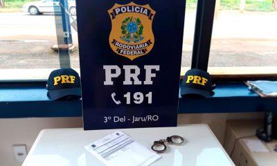 Polícia Rodoviária Federal prende três pessoas na BR-364