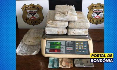 Mulher é presa pela Polícia Civil com 8 kg de drogas após denúncia anônima