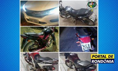Polícia Militar prende dois assaltantes e recupera cinco motos roubadas