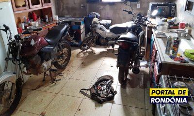 Polícia fecha desmanche clandestino e recupera sete motos roubadas
