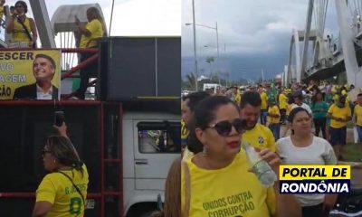 Porto Velho registra ato em apoio a Bolsonaro no Espaço Alternativo