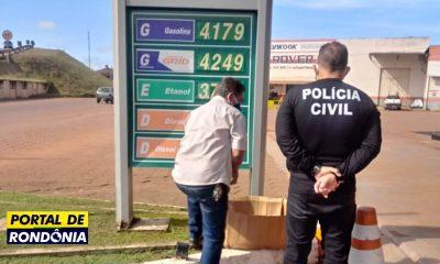 Preço da gasolina cai 20% em Porto Velho após operação da Polícia Civil