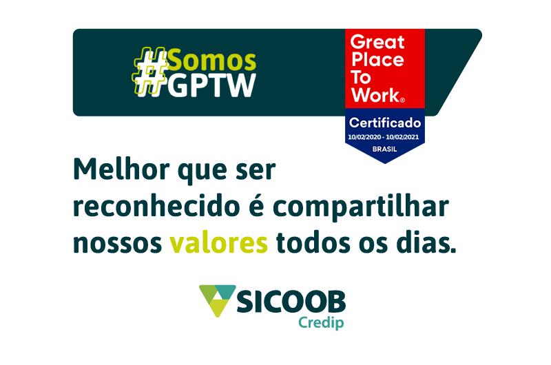 Sicoob Credip é certificada como excelente lugar para se trabalhar