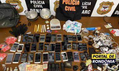 Polícia Civil estoura boca de fumo e prende líder do Comando Vermelho em Porto Velho
