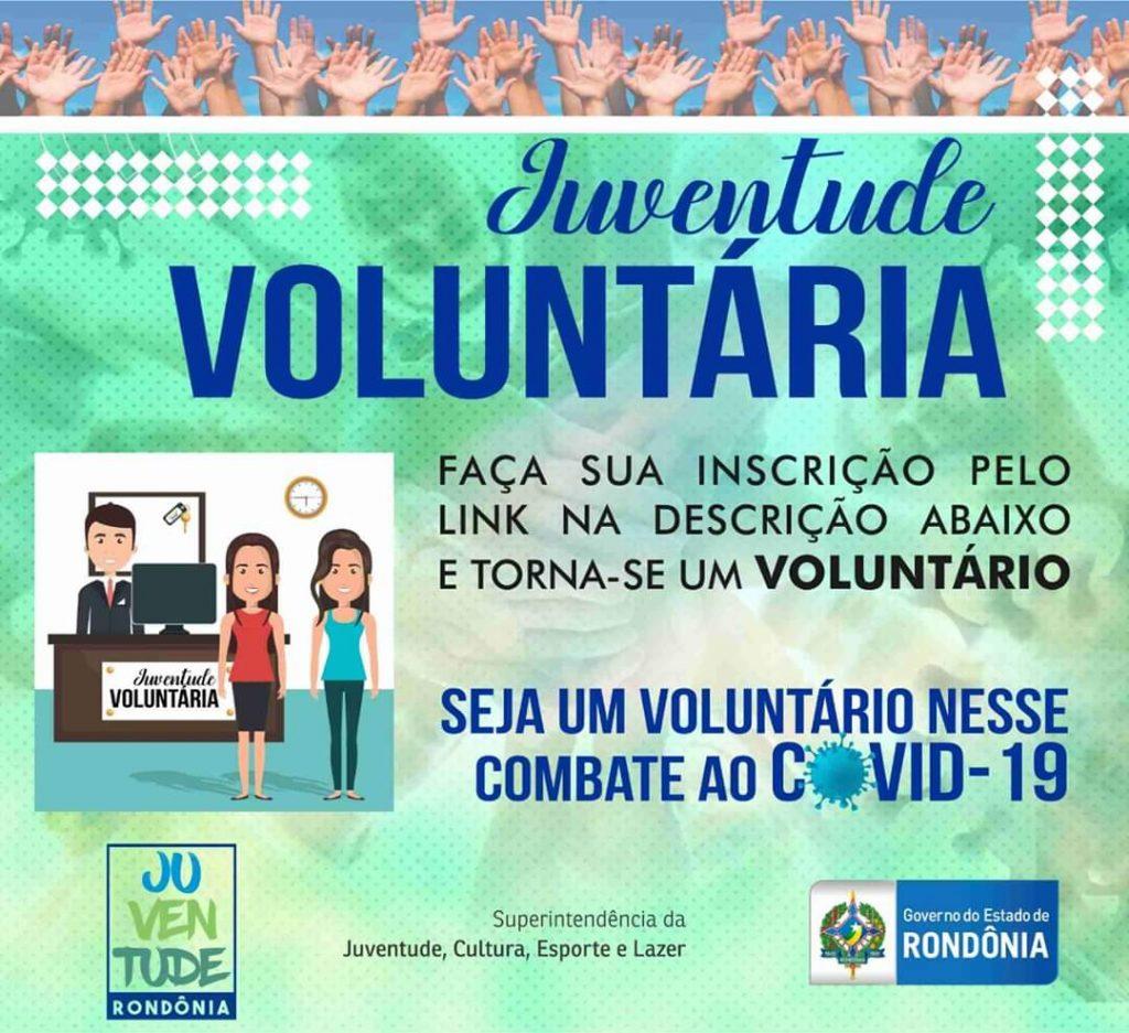 Jovens de Rondônia podem fazer parte de projeto voluntário e ajudar no combate ao coronavírus