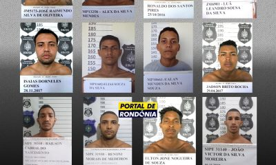 Doze presos do Comando Vermelho fogem de presídio em Porto Velho