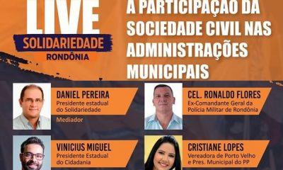 Live irá debater a participação da Sociedade Civil nas Administrações Municipais