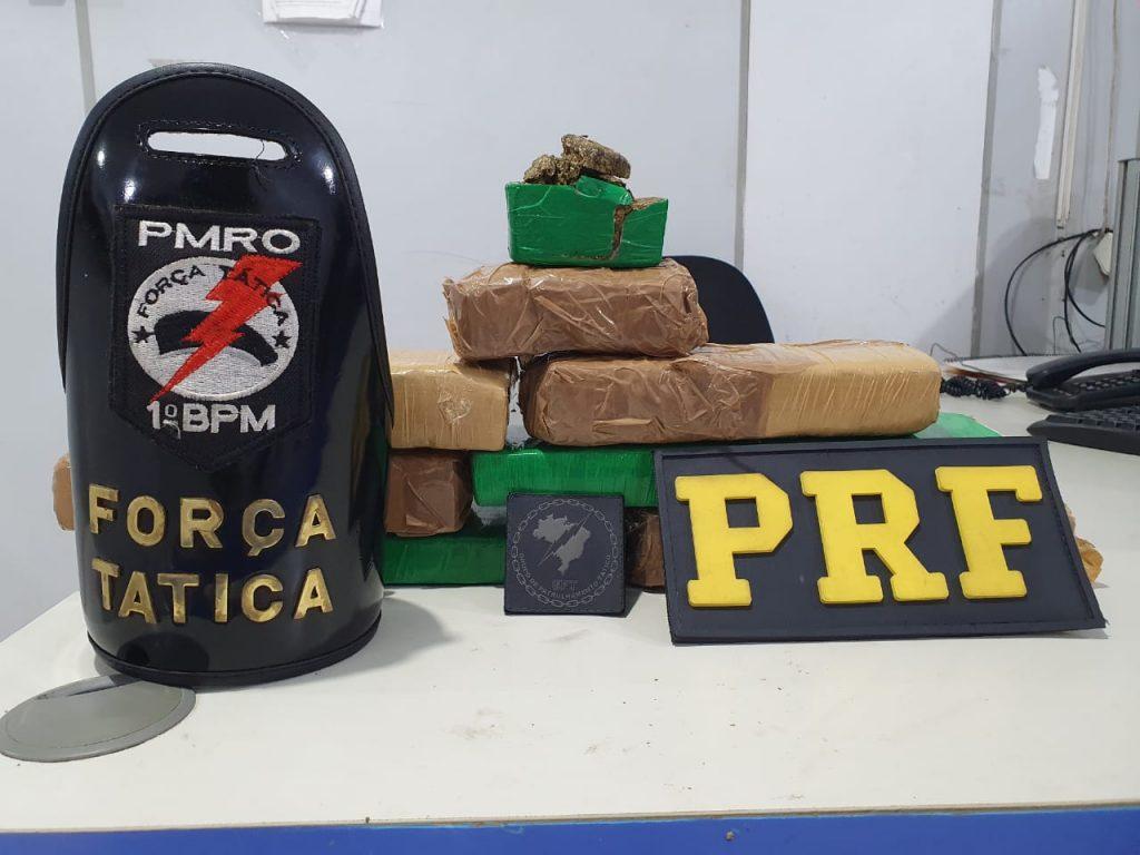 Adolescente de 15 anos é presa pela PRF com 5 kg de maconha na BR-364
