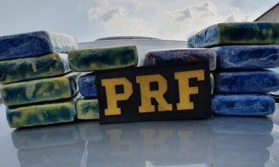 PRF apreende mais de 15 Kg de cocaína e prende duas pessoas na BR-364
