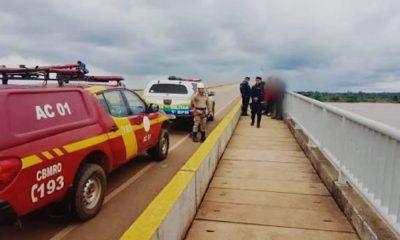 Bombeiros encontram jovem que saiu de casa dizendo que ia pular da ponte