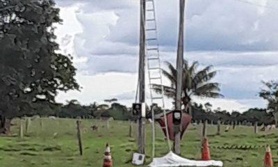 Homem morre eletrocutado durante trabalho em rede elétrica, em Rondônia
