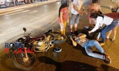 Colisão entre motocicletas na BR-364 deixa três pessoas feridas