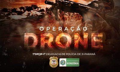 Polícia Civil faz operação contra facção que usa drones para jogar drogas em presídios de RO