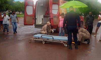 Homem é atropelado por caminhonete ao atravessar a faixa de pedestre em RO