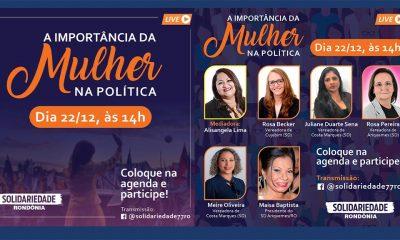 Solidariedade debate a importância da mulher na política