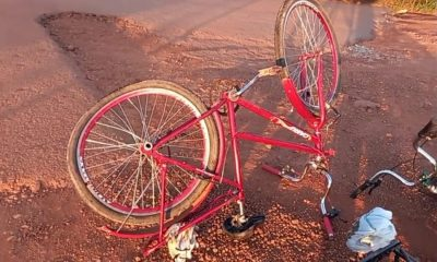 Ciclista fica em estado gravíssimo em acidente na BR-364; Veja o Vídeo