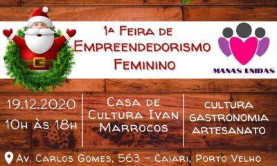 Feira de empreendedorismo feminino será realizado neste sábado em Porto Velho