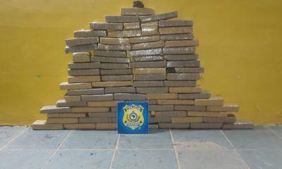 Casal é preso com 64 quilos de droga após abordagem da PRF