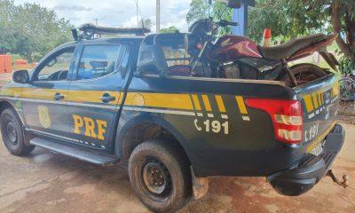 RECUPERADA: Polícia recupera motocicleta roubada há uma semana