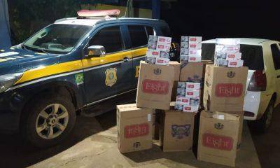 PRF apreende veículo com 5 mil maços de cigarro contrabandeados na BR-364