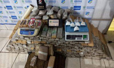 Polícia apreende 300 quilos de drogas dentro de freezer em residência na Zona Sul de Porto Velho