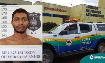Criminoso é baleado e fica em estado grave ao tentar assaltar policial militar feminina em Porto Velho