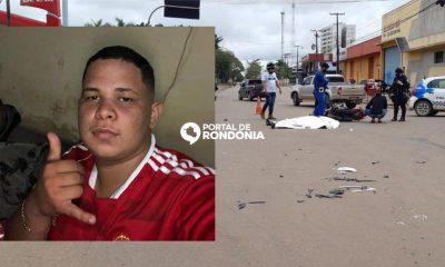 Jovem de 19 anos morre em acidente no cruzamento das avenidas Rio Madeira com Rio de Janeiro