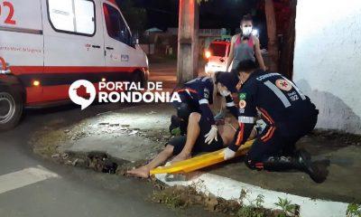 Ciclista é atropelado e cai sobre capô de carro no Centro de Porto Velho