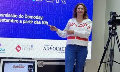 Dr Breno Mendes enaltece a participação da Dra Zênia Cernov em evento de inovação tecnológica voltada à Advocacia